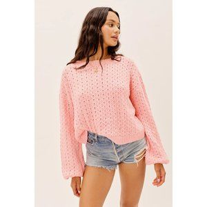 NWT Dawn Hi-Low Pullover by For Love & Lemons
